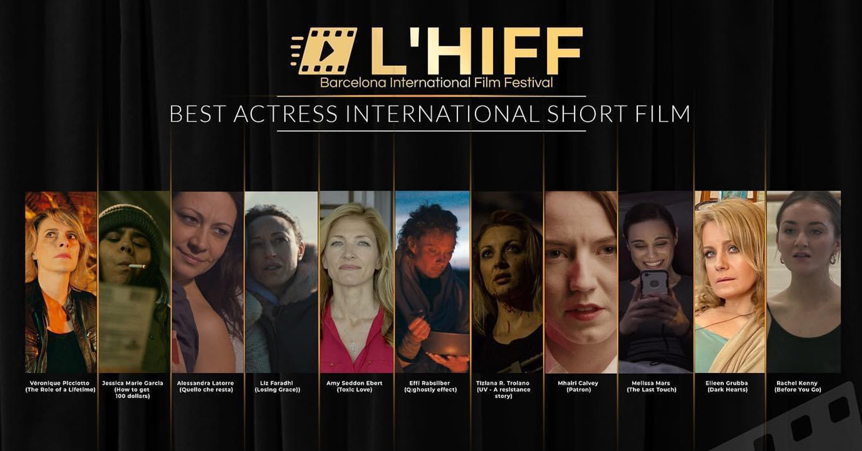 Best Actress Nomination at L'HIFF (Spain) 2021 | September 13-18