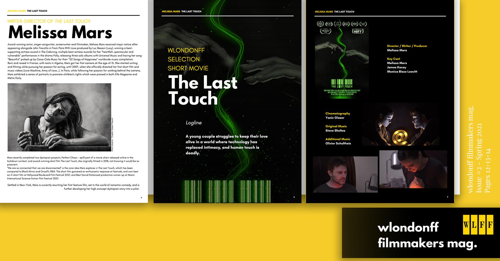 Featured in WLONDONFF Filmmakers Magazine!